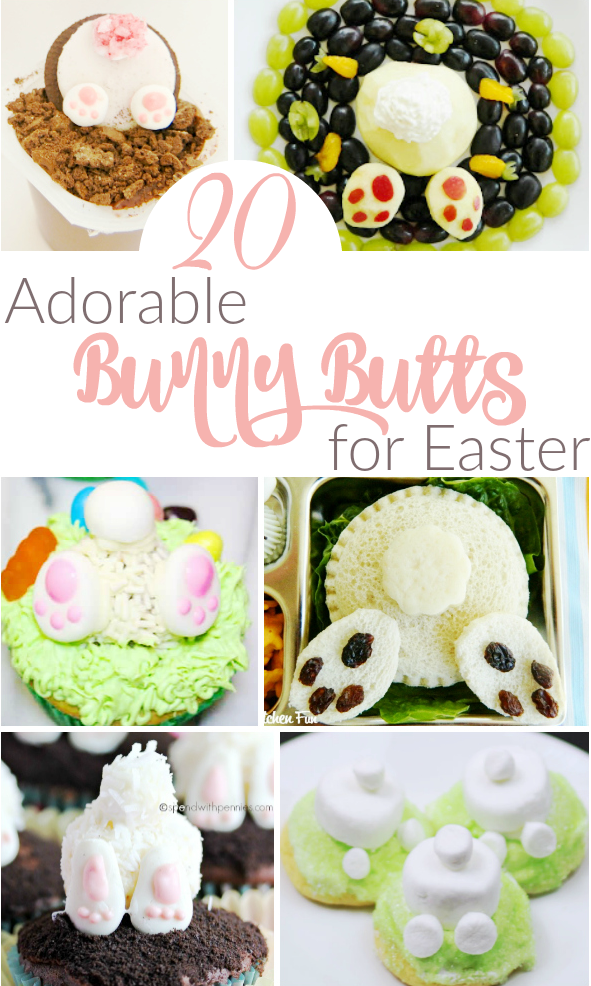 Adorable Bunny Butt Desserts for Easter