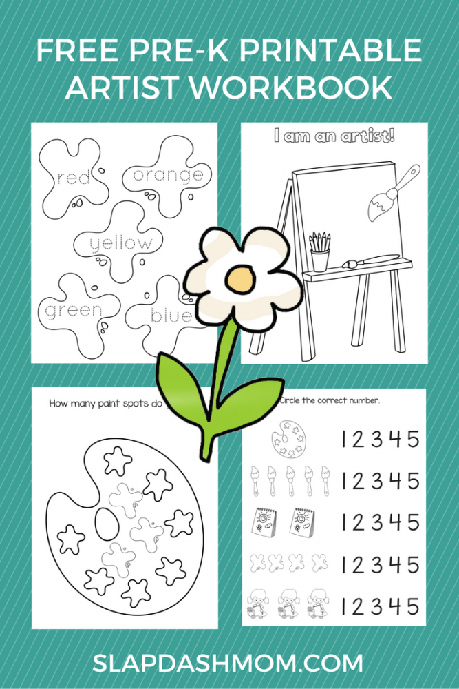 Free Preschool Printable Art Workbook