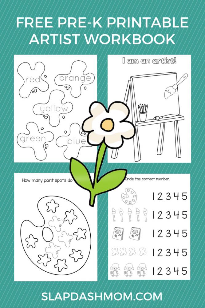 Free Preschool Printable Art Workbook Slap Dash Mom