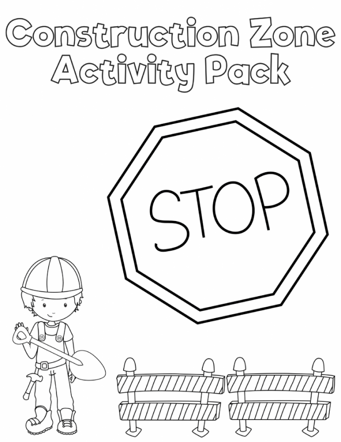 Free Printable Preschool Construction Printables