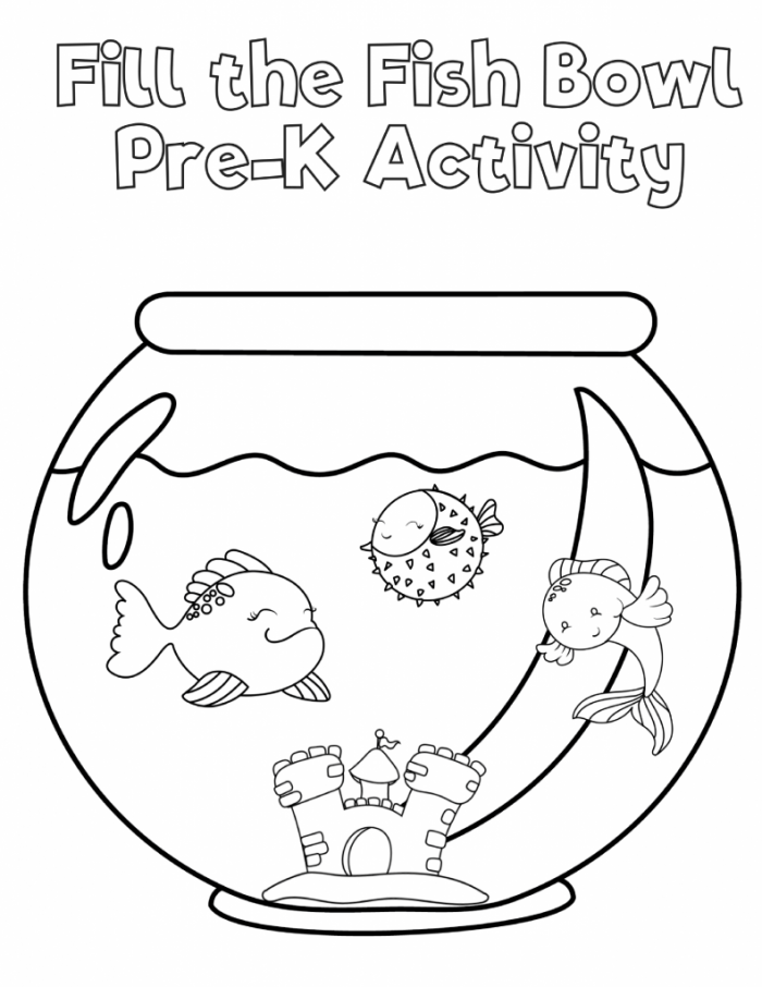 Free Preschool Fish Printable Workbook | Slap Dash Mom