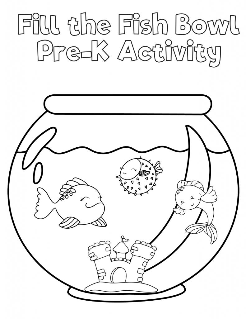 Free Preschool Fish Printable Workbook