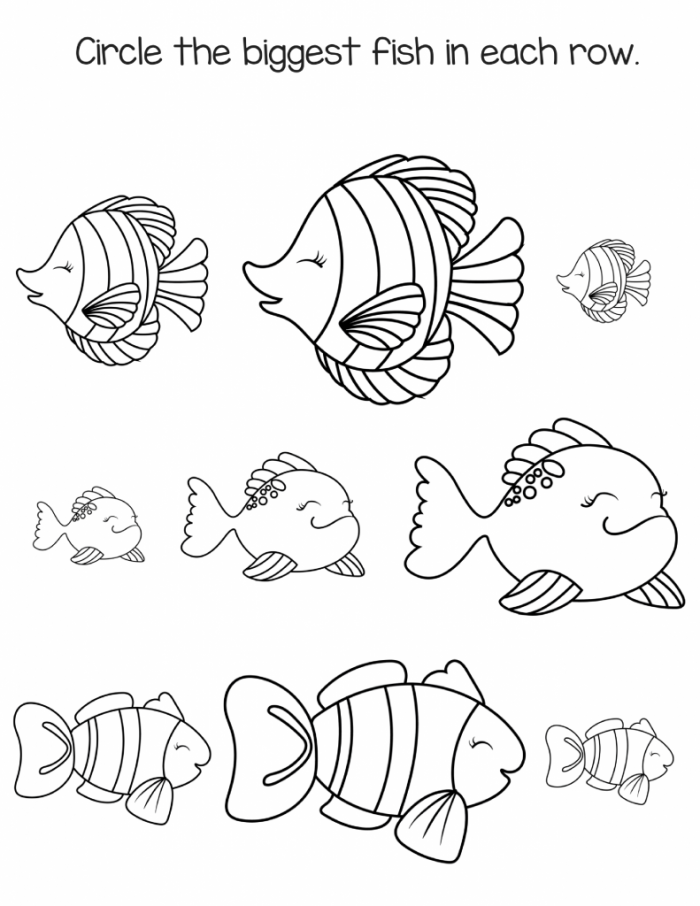 Free Preschool Fish Printable Workbook