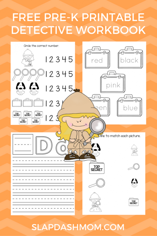 Preschool Detective Workbook