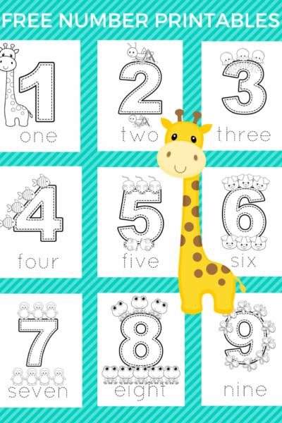 Free Preschool Number Printables