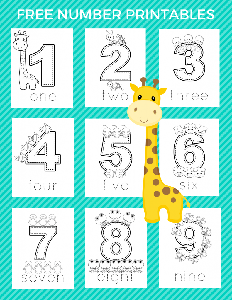 Free Preschool Number Printables