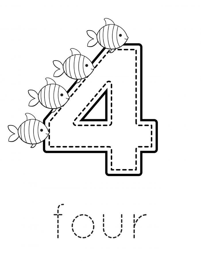 Preschool Number Printable Workbook - FREE