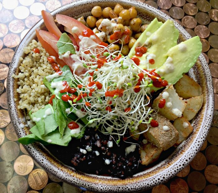 Vegan Buddha Bowl with Peanut Sauce