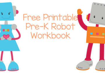 Free Printable Robot Workbook
