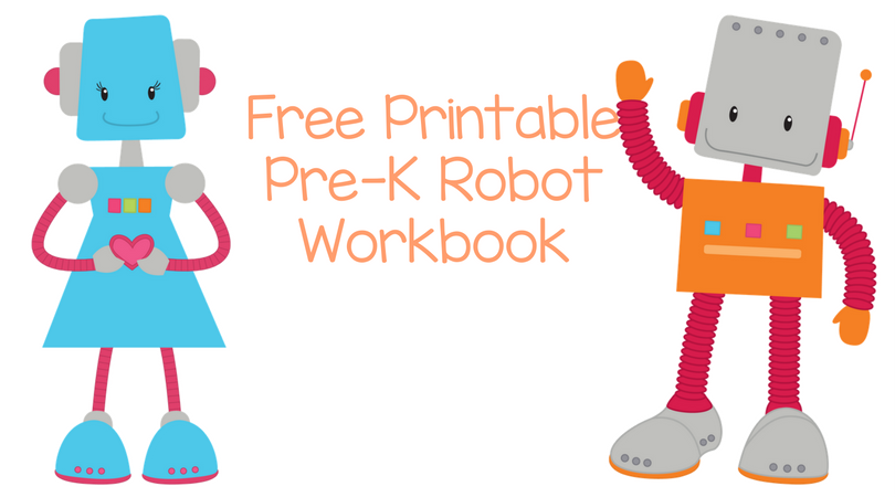 Free Printable Robot Workbook