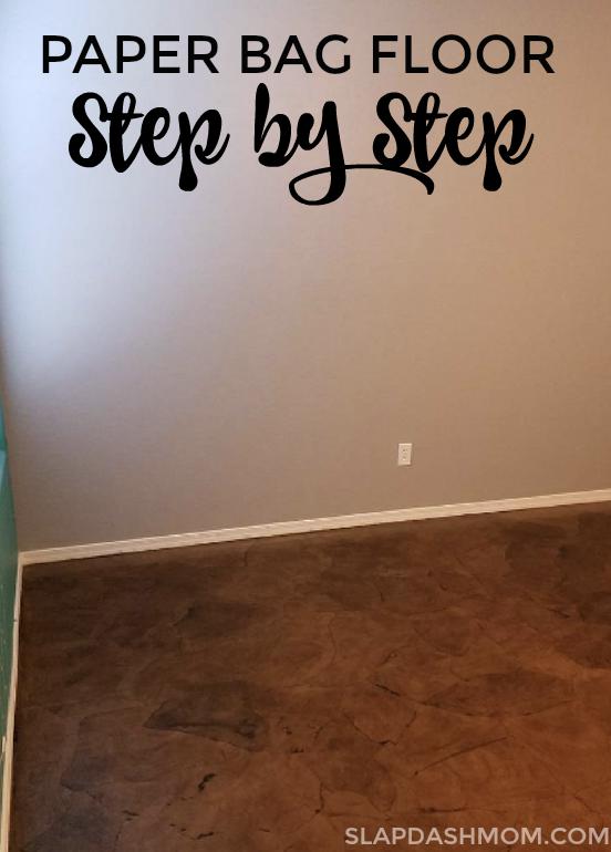 Paper Bag Floor Diy Easy Step By
