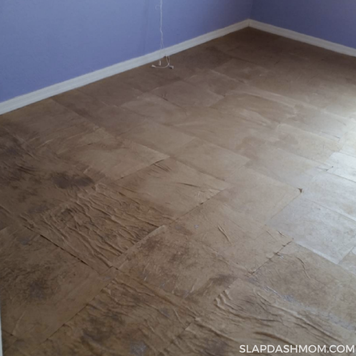 How to do paper bag floors.