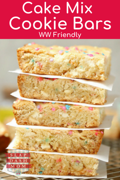Yellow cake mix cookie bars are the perfect blend of cake and cookies! Simple ingredients makes for an easy dessert! Perfect for parties and holidays. Also WW friendly!