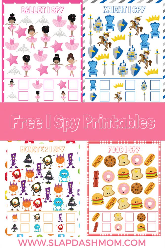 Free I Spy Preschool Printables