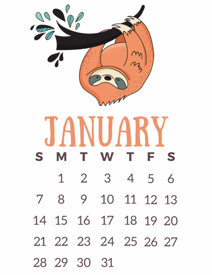 2018 free printable calendars   Lolly Jane