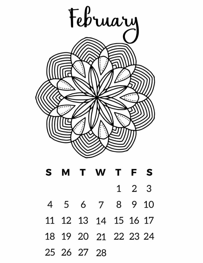 printable 2018 calendar free