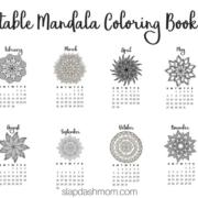 Free Printable Mandala Coloring Book Calendar