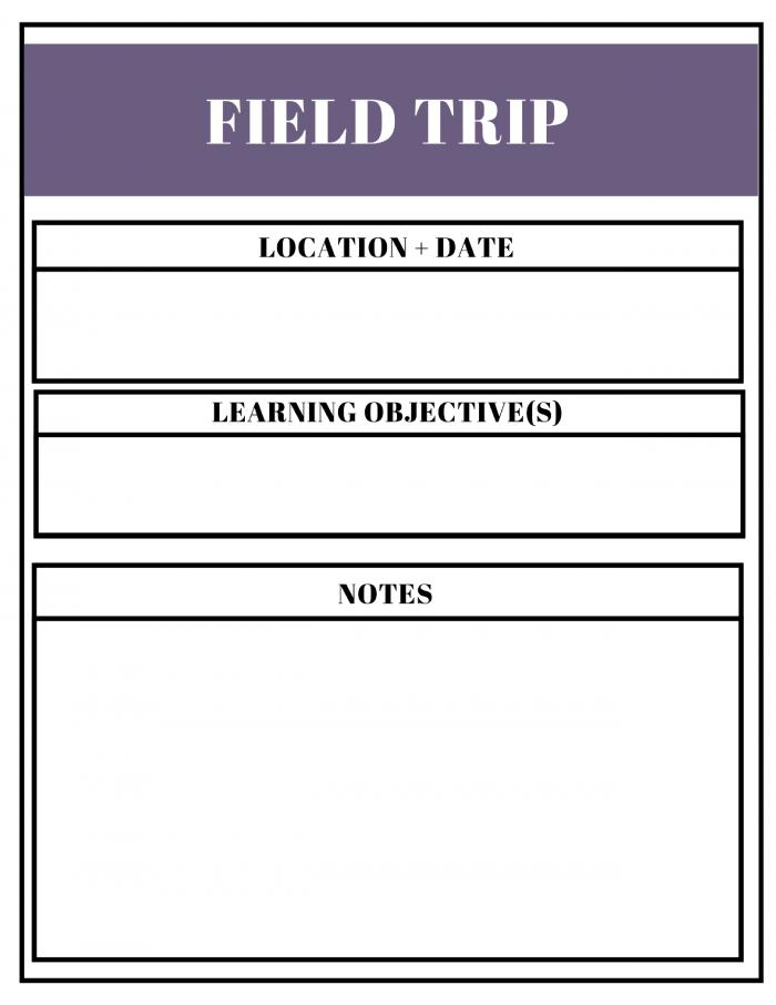Free Unit Study Planner Field Trip
