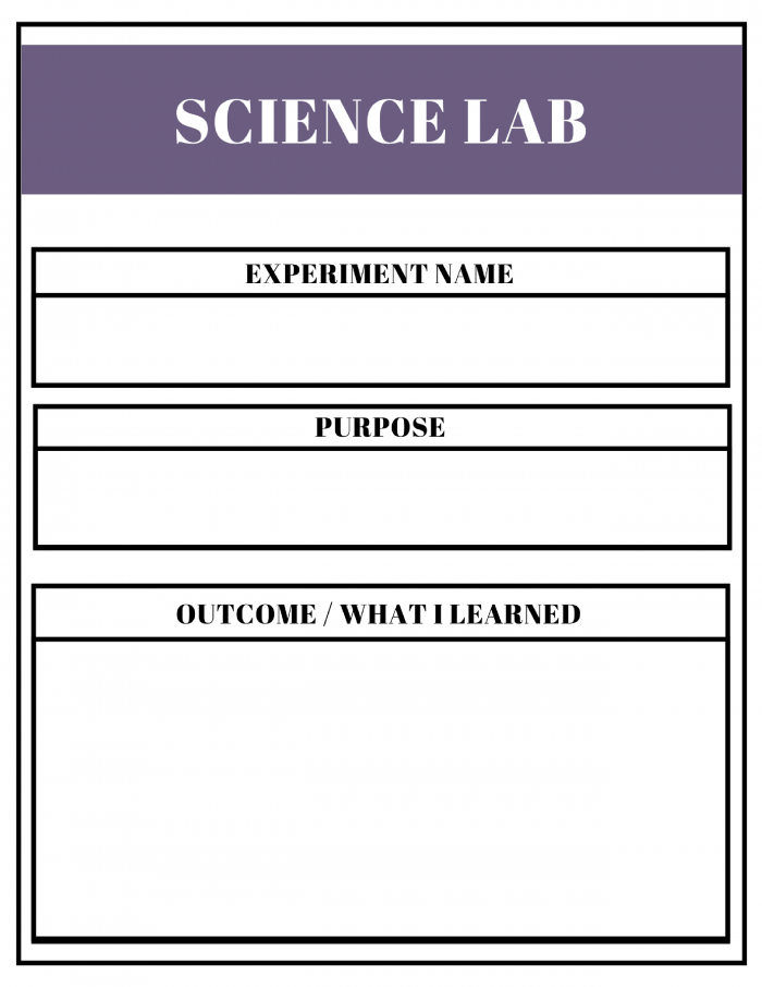 Free Unit Study Planner - Science Lab