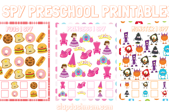 Free I Spy Preschool Printables