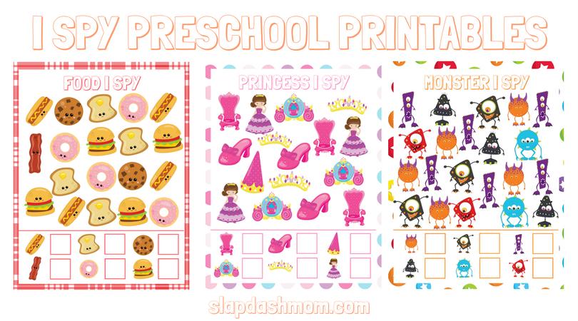 Free I Spy Preschool Printables | Slap Dash Mom