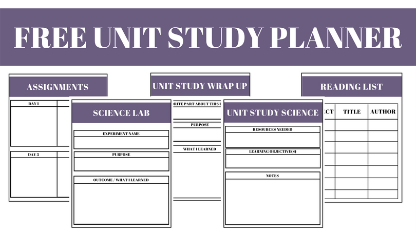 Free Unit Study Planner (for All Grades!)