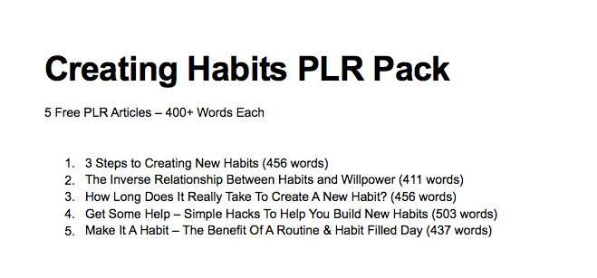 how to use plr for blogs
