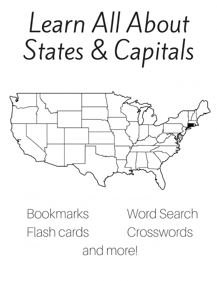 Free 50 States and Capitals Printable Workbook | Slap Dash Mom