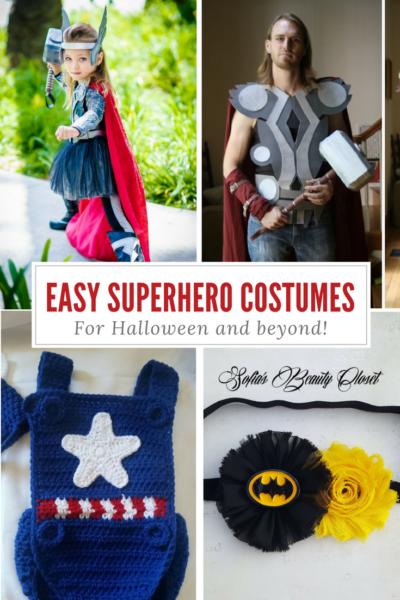 Easy Superhero Halloween Costumes