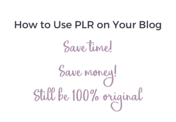 How to Use PLR on Your Blog