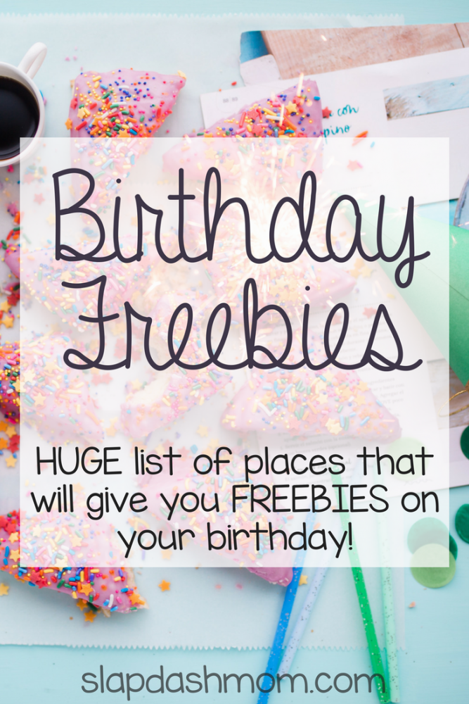 Birthday Freebies and Coupons