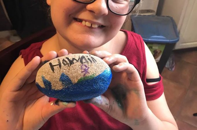 Look at our Painted Rocks! Mother Daughter Activity: Spread Kindness with Rocks!