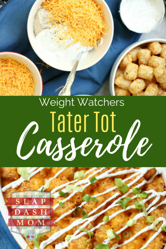Weight Watchers Tater Tot Casserole Images with text