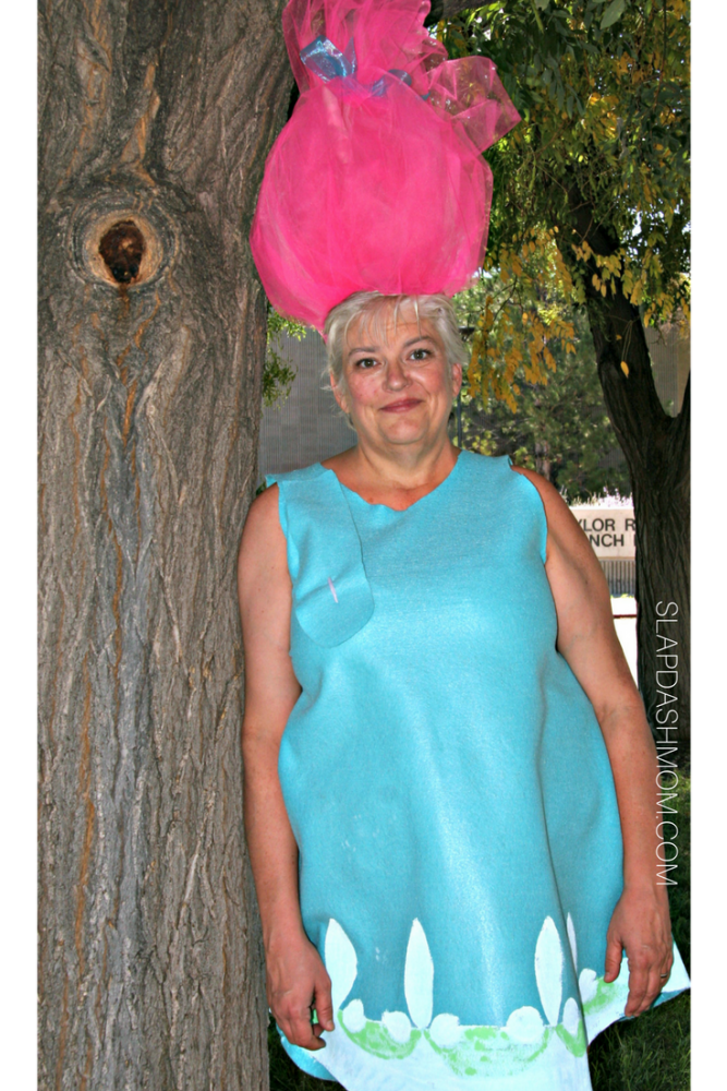 No Sew Treasure Troll Adult Halloween Costume