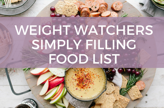 Weight Watchers Simply Filling Power Foods List