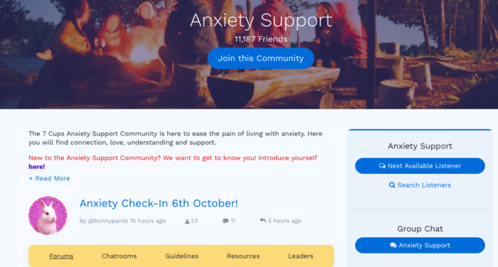 Free Online Anxiety Support
