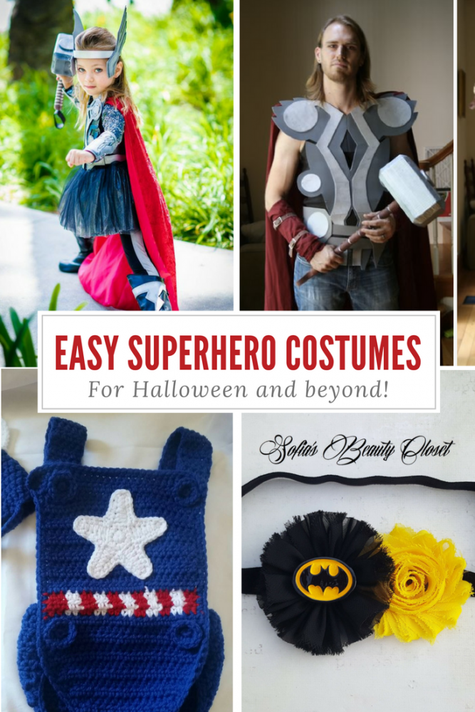 easy superhero costumes