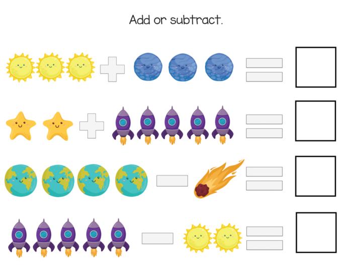 kindergarten planet printables