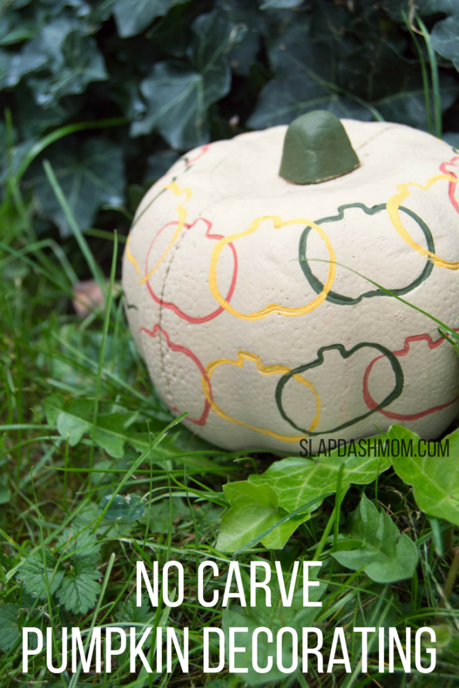 No Carve Pumpkin Decorating