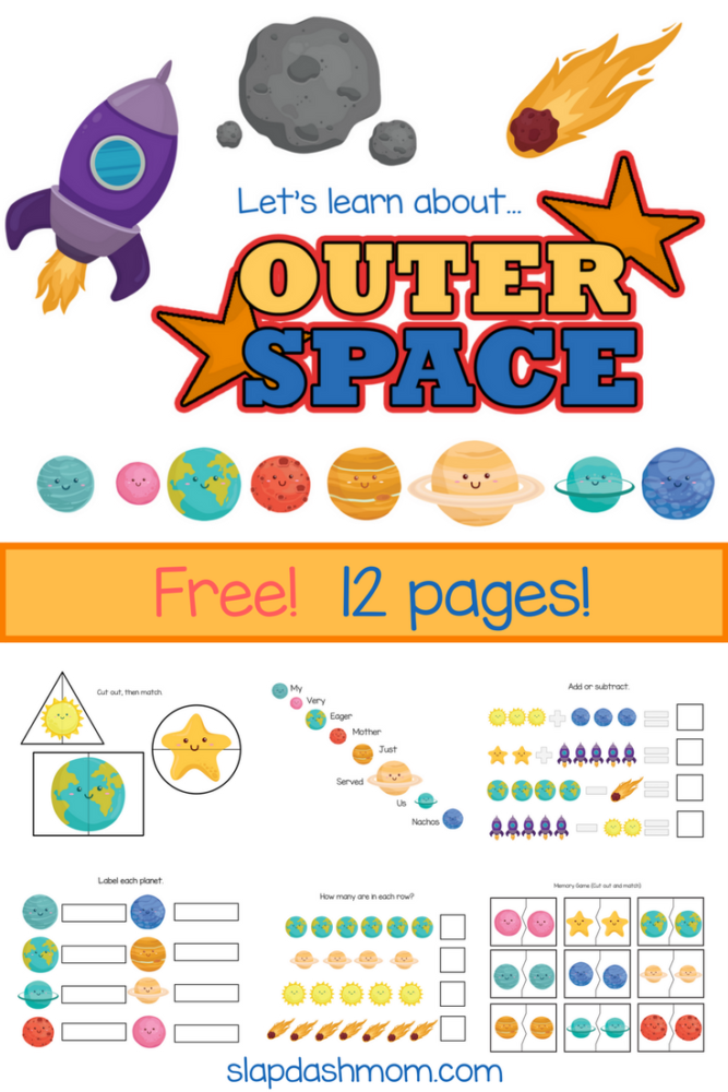 Planets and Space Kindergarten Printables
