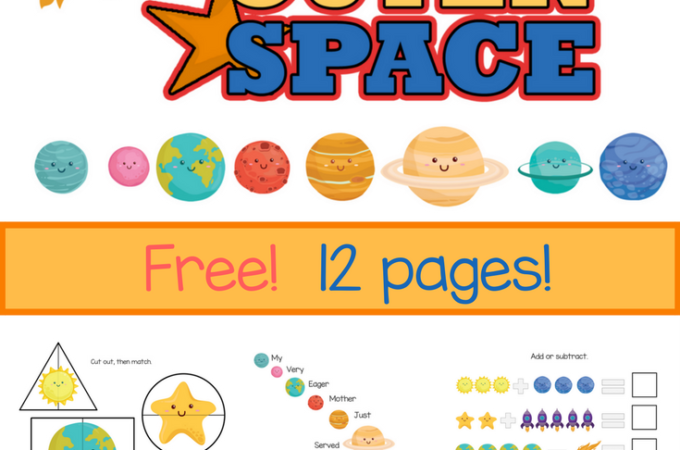 Kindergarten Worksheets – Free Solar System Workbook