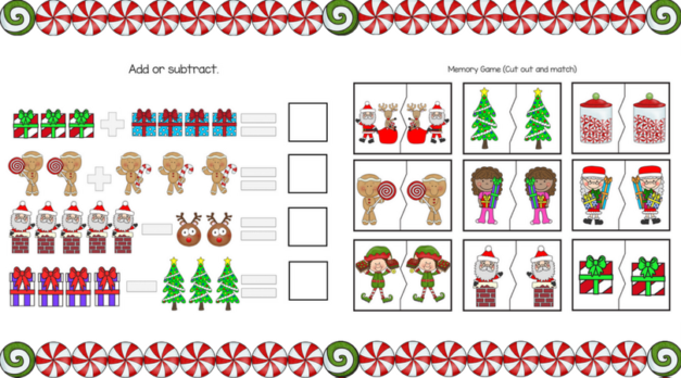 Christmas Preschool Printable Packet