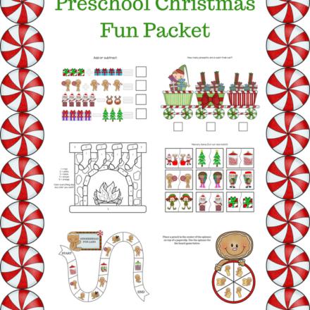 Christmas Preschool Printable Packet