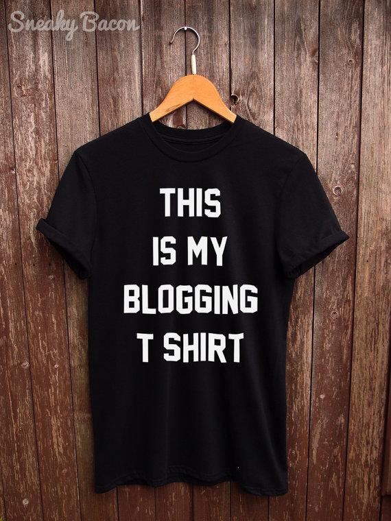 blogging tshirt
