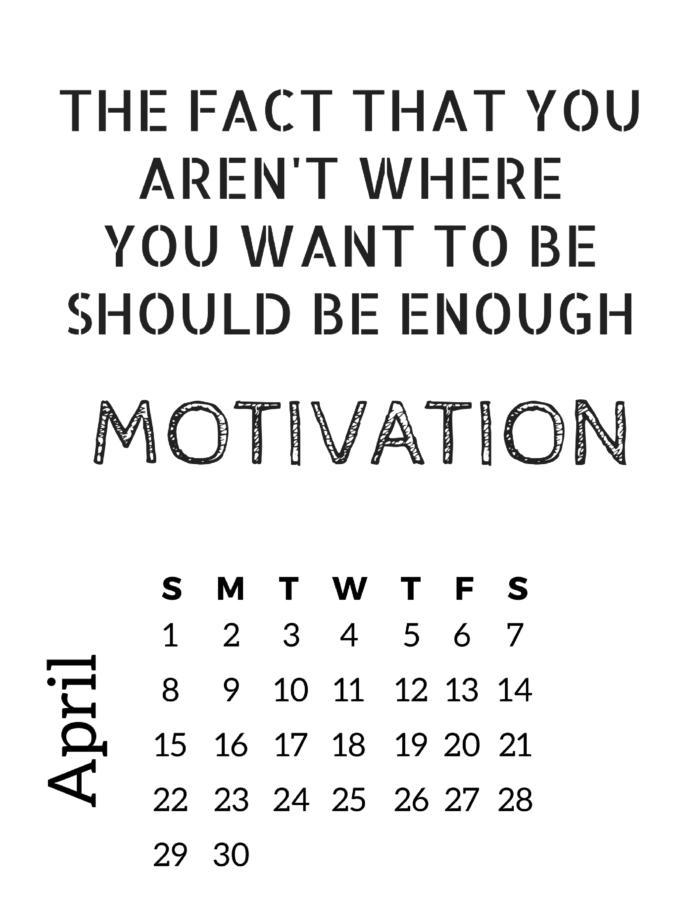 motivational calendar slap dash mom