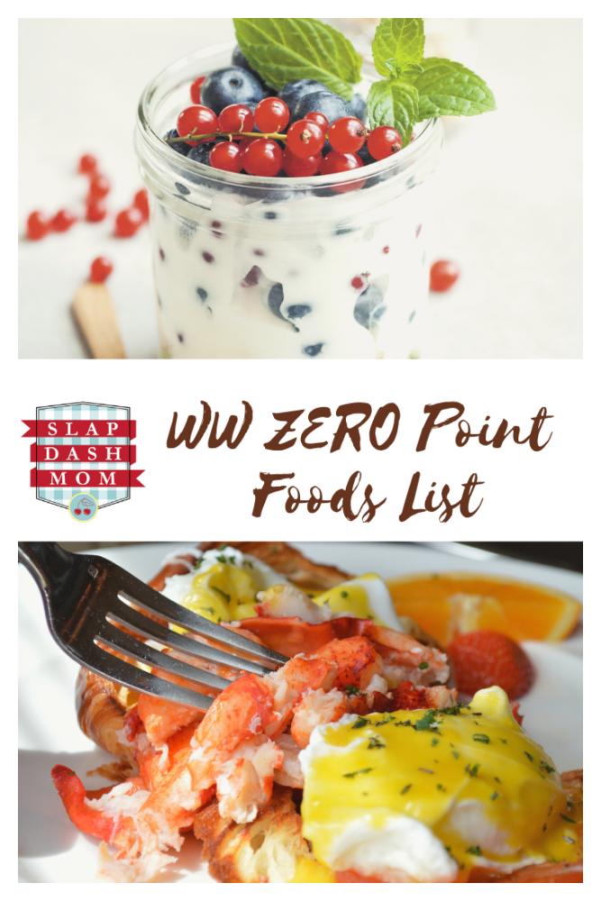 WW ZERO Points Foods List