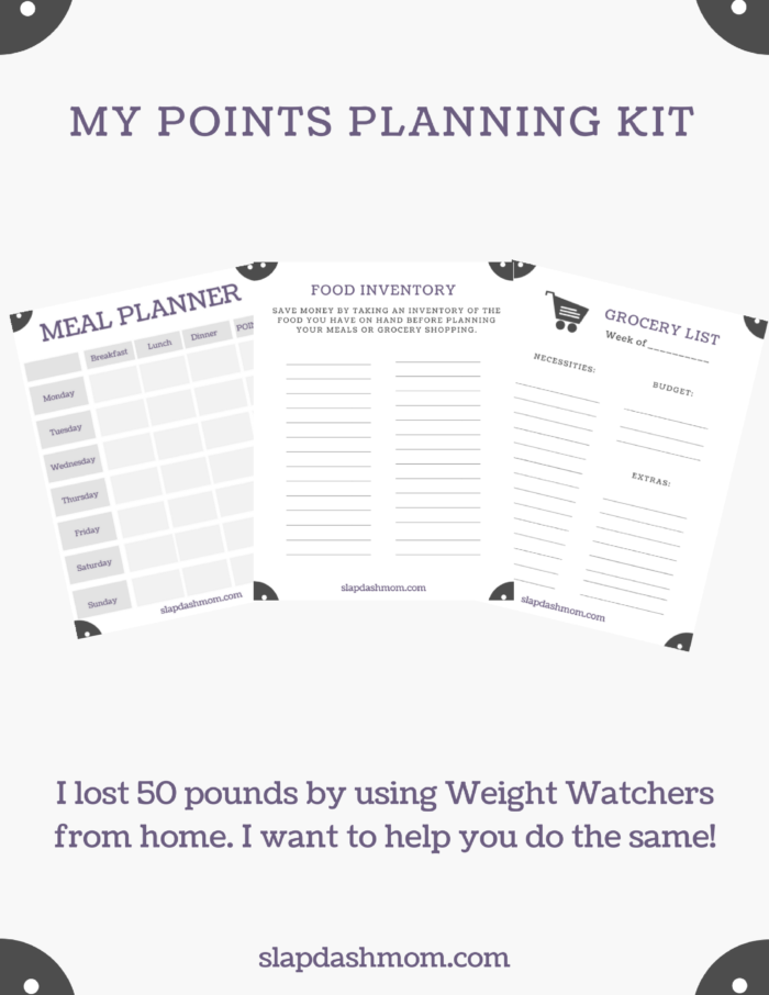 weight watchers planning kit