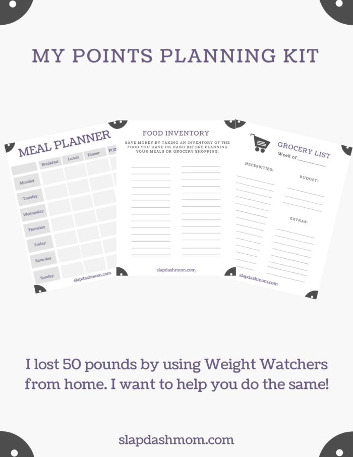 weight watchers planning kit