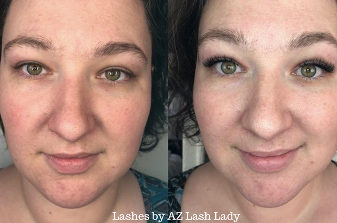 First Time Getting Eyelash Extensions (AZ Lash Lady Review)