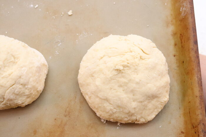 Weight Watchers Dough rolled onto a cookie sheet